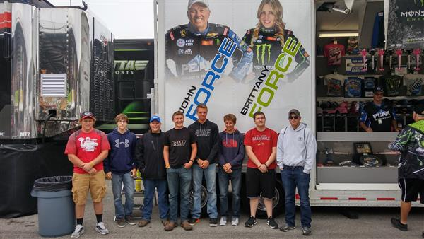 Advanced Auto Service Tech and Precision Machining Students visit the NHRA nationals in Indianapolis